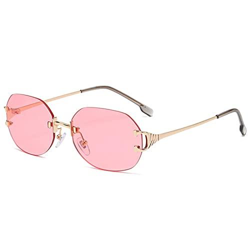 LUOXUEFEI Gafas De Sol Gafas De Sol Ovaladas Sin Montura, Gafas De Sol Para Mujer, Cuadradas, Rosa, Púrpura, Verde, Accesorios Masculinos