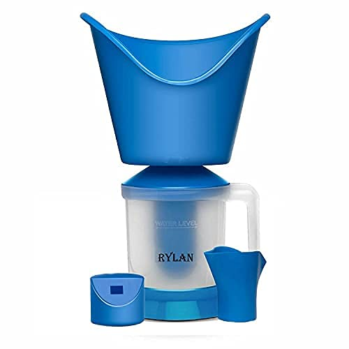 RYLAN Face, Nose, and Cough Steamer 3 in 1 Plastic Steam Vaporizer, Nozzle Inhaler, Facial Sauna, and Facial Steamer Machine for Adults and Kids, Steamer, Vaporizer Machine- (vaprizer)