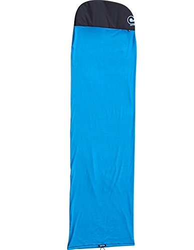 "Stretch SUP Board Sock Cover for Paddle Boards - Size 8'2 to 12'6 [Choose Color] 5 quality thick & hard wearing weave protects your board from sunlight, scratches, dirt and dings super stretchy fabric will accommodate boards up to 34"" 600D reinforced Fish or Round shape nose protector & drawstring barrel lock tail closure will fit your fin"