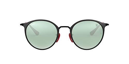 Ray-Ban Junior Unisex-Erwachsene 0RB3602M F02230 51 Sonnenbrille, Schwarz (Black On Top Matte Black)