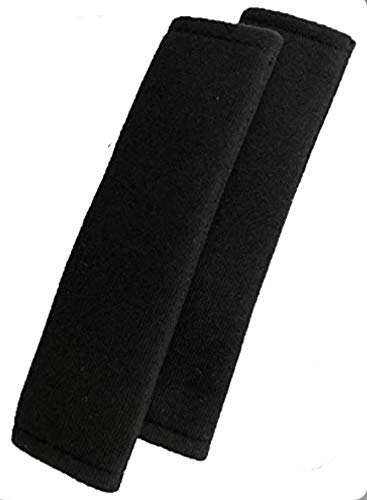 MiELiDA Gurtpolster für Kinder und Erwachsene - schwarzes Polster für Autogurt - Gurtschoner - Griffpolster (schwarz)