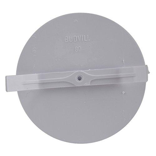 CAGO Federsteckdeckel für Abzweigdosen, 90 mm Durchmesser, Weiß