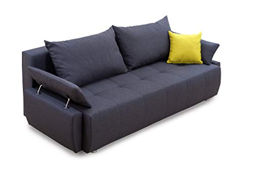 Collection AB 100880 Gioco Schlafsofa, Stoff, Anthrazit, 96 x 212 x 84 cm