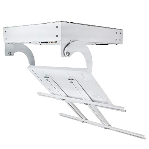 """Hanchen Electric Ceiling TV Mount 32"""" to 70"""" Plasma TV Turning Device Lifting Cradle 90° Vertical Flip for LCD TV Motorized Hidden Holder Max Height 680mm 50M Effective Remote Control Distance 110V CE"""
