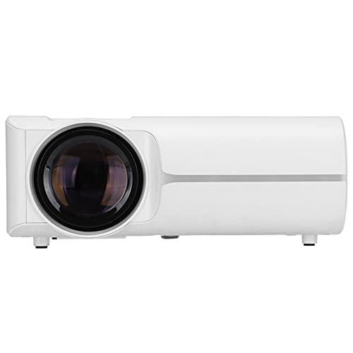 Sorandy Proyector pequeño, proyectores caseros portátiles HD 1080P para Entretenimiento, proyector WiFi con Ventilador silencioso de disipación de Calor, Compatible con HDMI AV VGA 2 USB TF(Blanco)