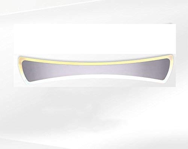 XHCP Einfaches Badezimmer Anti-Fog WC Edelstahl Acryl LED Spiegel Frontlampe Wandlampe (Gre  41cm (15w))