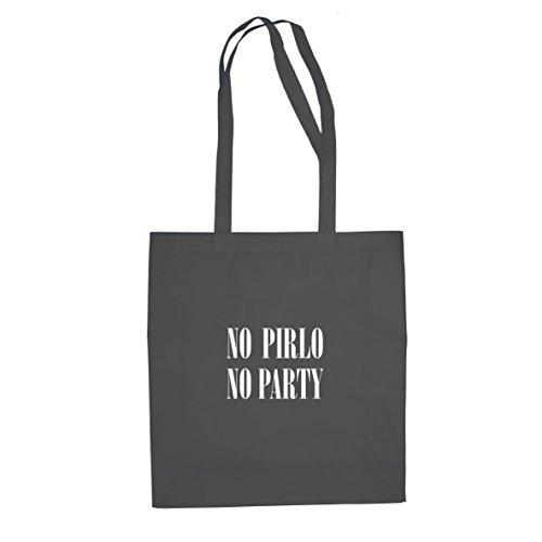 Planet Nerd No Pirlo No Party - Stofftasche/Beutel, Farbe: grau