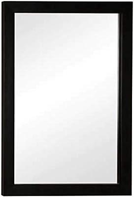 Zahab Fibre Frame Decorative Bathroom Wall Mirror 12x18 (Black)
