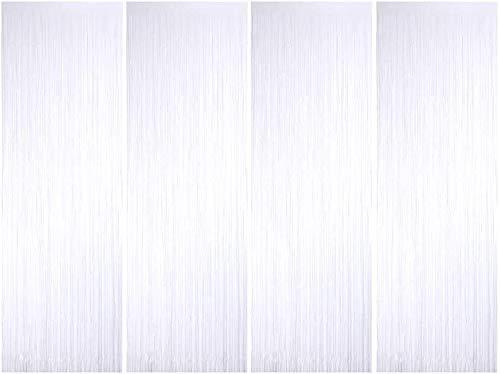 Metallische Lametta Vorhänge/Folie Hintergrund Fringe Vorhänge für Geburtstag Party/Hochzeit, DIY Photo Booth Dekorationen, Tür Fenster Hintergrund Foto Requisiten für Festival(1x2.5m)