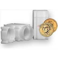 Square Small Dollar Coin Tube(Qty=25 Tubes)