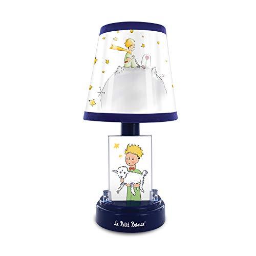 Metronic El Principito Lámpara de mesita de noche infantil, para niños, funcionamiento con pilas, luz LED suave, Azul