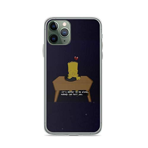 Phone Case The Simpsons Bart Simpson Heart Break Falling in Love Compatible with iPhone 6 6s 7 8 X XS XR 11 Pro Max SE 2020 Samsung Galaxy Tested Shock Bumper