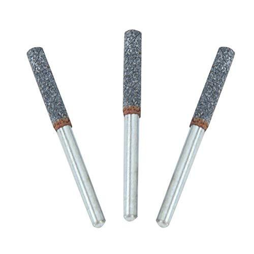 Afilador de dientes de motosierra, 4 mm 5/32 pulgadas Sawbuddies Afilador de motosierra, Lima de piedra para motosierra Kit de afilador de motosierra de pulido de metal para mini amoladora