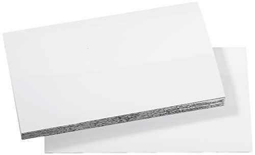 MagFlex Lite 100mm x 60mm Les étiquettes magnétiques Large Flexible - Blanc Brillant à sec Wipe surface (100 feuilles)