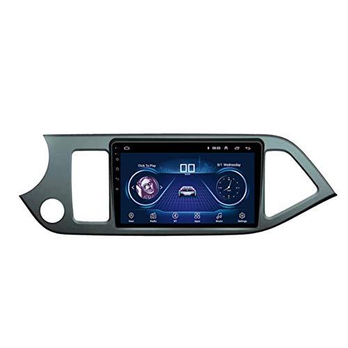 Flower-Ager Android 10 2 DIN Autoradio para Kia Morning 2011-2018 Navegación GPS Apoyo MP5/4 Enlace Espejo Controles del Volante Salida de Video Apoyo 1080P+Cámara Trasera,WiFi+4g,2+32G