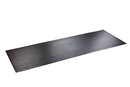 """SuperMats High Density Commercial Grade Solid Equipment Mat 29GS Made in U.S.A. for Large Treadmills Ellipticals Rowers Water Rowing Machines Recumbent Bikes and Exercise Equipment (3-Feet x 8.5-Feet) (36"""" x 102"""") (91.4 cm x 259.1 cm),Black"""