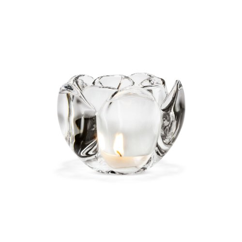 Holmegaard Lotus Teelichthalter, Glas, 9 cm