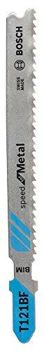 Bosch Professional Stichsägeblatt T 121 BF, Speed für Metal, 5-er Pack, Bleche, 2608636702