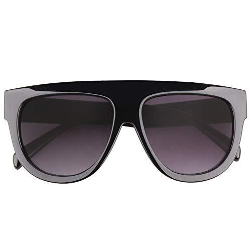 GQUEEN Übergroße Quadratische Sonnenbrille für Frauen Retro Vintage Brille MOS9