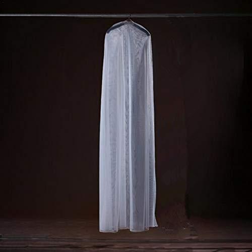 Liery Kleidersack, 160 cm 180 cm 200 cm Transparente Weiche Tüll Staubschutzhülle Für Hauptkleidung Hochzeitskleid Kleidungsstück Brautkleid Schutz Mesh Garn