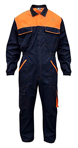 Tuta da Lavoro Multitasche (Blu/Arancione, XL)