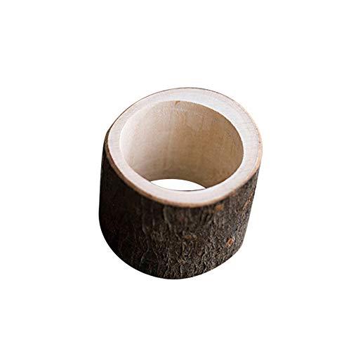 qingsb - Servilletero de madera, estilo rústico, para boda