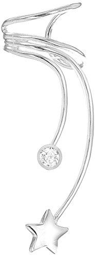 Tuscany Silver - Pendiente de plata en forma de estrella con cristal de zirconia