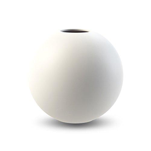 Cooee Design Ball Vase, Keramik, Weiß,10 cm