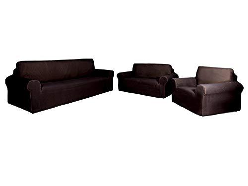 Superior Home SlipCover Set para sofá, sillón, sillón, sillón, Ajuste elástico, sin Arrugas, Duradero, Protector de Muebles para 3/2/1 cojín, poliéster Spandex, patrón de Cuadros Colores sólidos