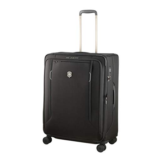 Victorinox Werks Traveler 6.0 Large Softside Spinner Suitcase, 27-Inch, Black