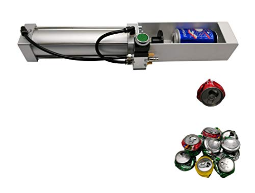 Can Crusher Pneumatic Cylinder Can Crusher for Soda Beer Ecofriendly Recycling Tool Silver