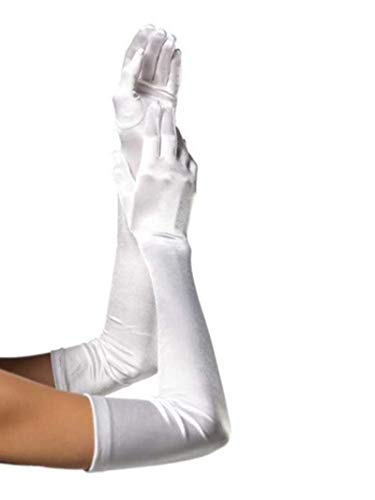 Forum Novelties Long White Adult Female Costume Satin Dress Gloves One Size
