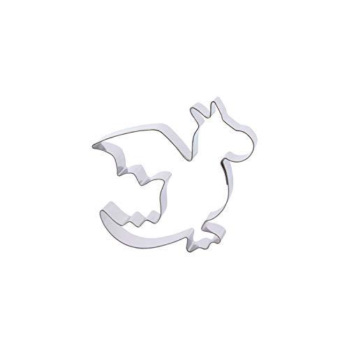 Der-Ideen-Shop 1 Keks - Ausstecher Kleiner Drache | aus Edelstahl | Dragon | Ritter