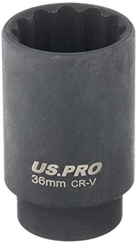 US PRO B1369 - Llave de vaso de impacto (doble profundidad, 36...