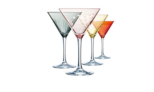Eclat Illumination Color Set de 4 Copas Cocktail de 300 ml, Cristal