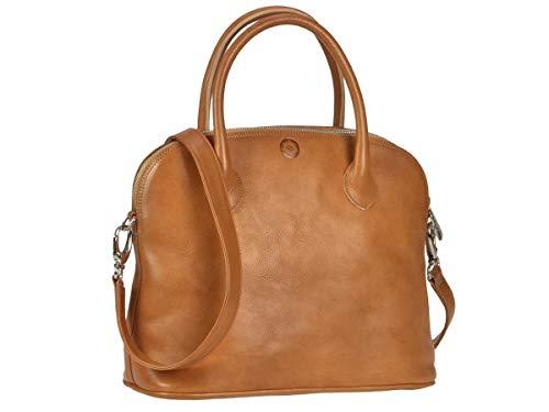 Sonnenleder - hochwertige Handtasche Roma T Farbe: Natur, Innenfutter: Ecru *Echtes Leder* …