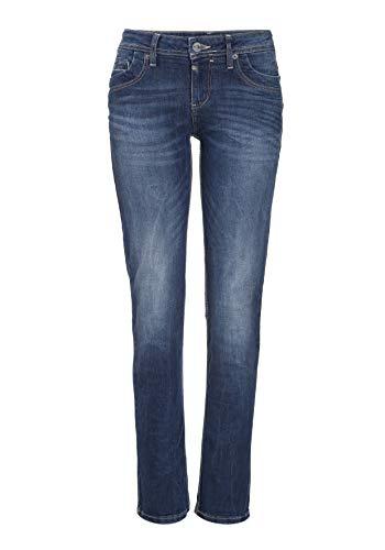 Timezone Damen TahilaTZ Straight Jean, Blau (Surfer Wash 3385), W28/L32 (Herstellergröße: 28/32)