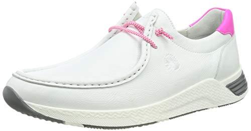 Sioux Damen Grash-d191-57 Sneaker, Weiß (Weiss/Neon-Pink 001), 41.5 EU (7.5 UK)