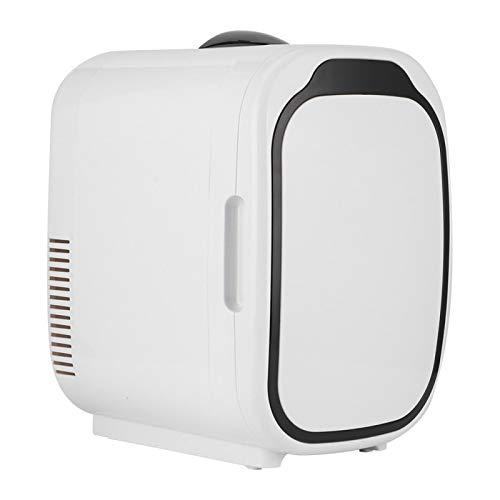 Wosune Refrigerador de Coche eléctrico, frigorífico portátil de diseño silencioso Blanco, ABS de refrigeración y calefacción de 6L(220V, European Standard)