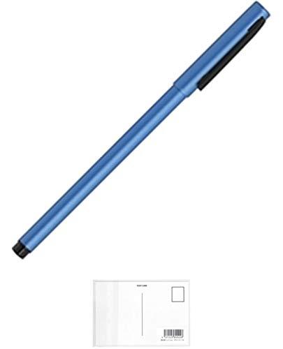 ゼブラ フォルティアem. エマルジョンボールペン ライトブルー BA98-LB + 画材屋ドットコム ポストカードA