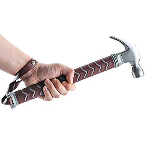 Bielmeier Claw Hammer 13 oz Long handle Straight Rip Hammer Fiberglass Non Slip Shock Reduction Grip with Safety Strap