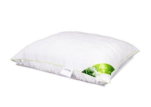 Kopfkissen Schlafkissen Baumwolle Bambus Steppkissen mit Reißverschluss Kissen weiß für Allergiker atmungsaktiv 40x40 40x60 50x60 50x70 70x80 Premium Qualität Öko-Tex Standard (70 x 80 cm)