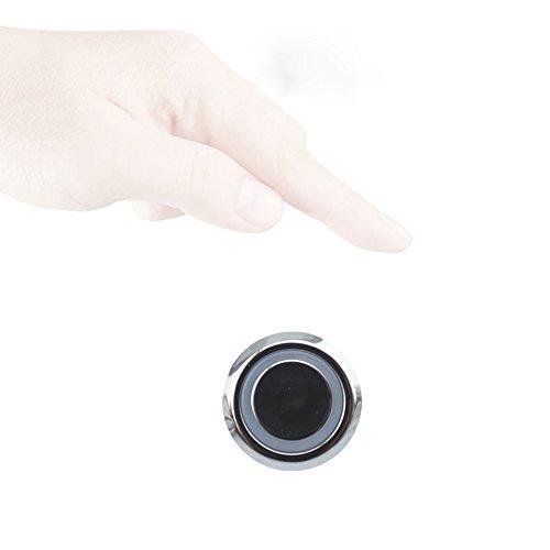 Mini interruptor táctil DC12V Sensor LED Tira de la lámpara Detector de armario W/Luz azul