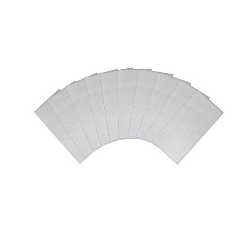 10x vilten set wit voor rakel viltrand 10x5 cm zelfklevend folierakel kleefhulpmiddel folie rakelvilt strips vilt strepen