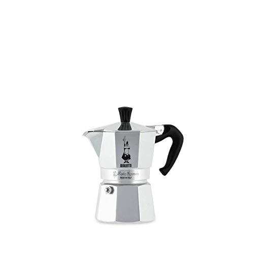 Bialetti Moka Express Espressokocher, Aluminium, Grau, 2 Tassen