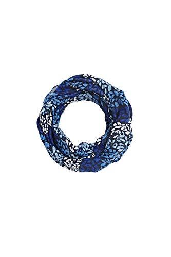 ESPRIT Accessoires Damen 010EA1Q301 Schal, Blau (Navy 400), One Size (Herstellergröße: 1SIZE)