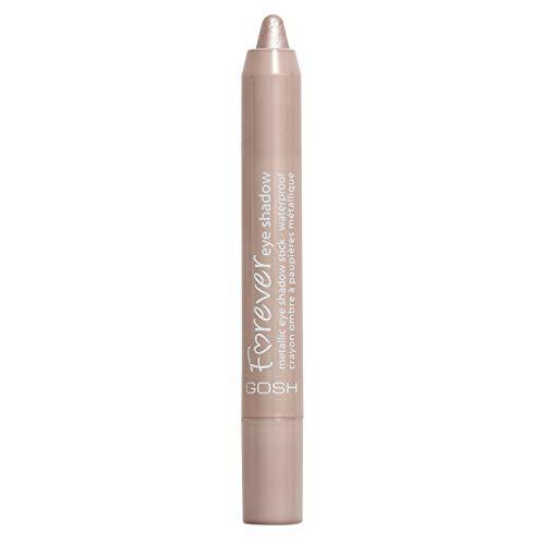 GOSH Forever Eye Shadow Lidschatten-Stift mit cremiger Textur für einfaches Auftragen & intensives Farbergebnis | wasserfest, hält bis zu 8h | parfümfrei & hautverträglich | 001 Silver Rose (Metallic)