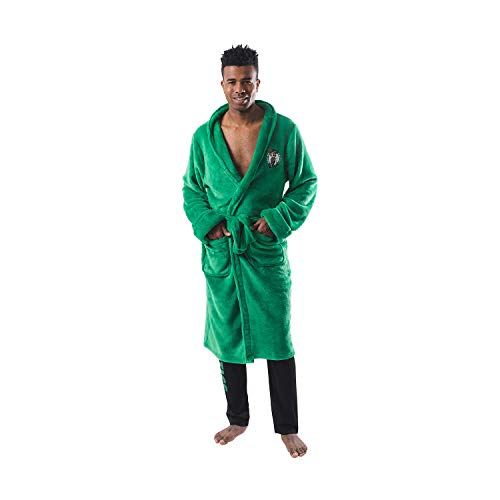 Ultra Game NBA Boston Celtics Mens Lounge Bath Robe, Team Color, 1SIZE