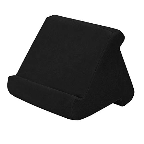 prasku Soft Pillow Tablet Stand For Holder Rest Cushion Pad Angle Adustable - Black, 23x23x20cm