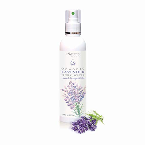Organic Lavender Floral Water (Lavandula angustifolia) 100% Natural, Spray for face, Body, Hair, Excellent Aftershave (8.5 Fl Oz (250 ml))